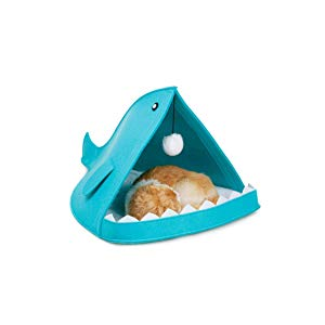 Blue Waterproof Lanternfish Pet Bed
