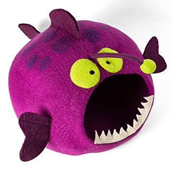 Furry Comfortable Anglerfish Shaped Cat Bed