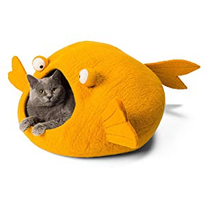 Orange Koi Shaped Cat Cave