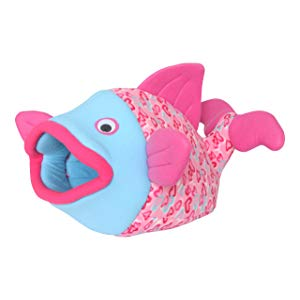 Pink Heart Designed Fish Shaped Cat Bed