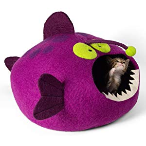 Purple Anglerfish Cat Bed