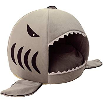 Shark Mouth Cat Bed With Removable Bed Cushion