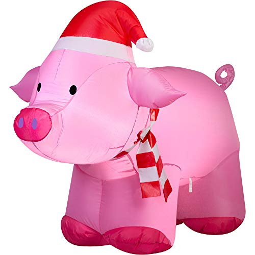 Piggy Inflatable With Scarf
