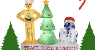 R2D2 and C3PO Christmas Inflatable